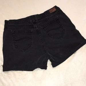 Vintage {Lee} charcoal high waisted cut offs